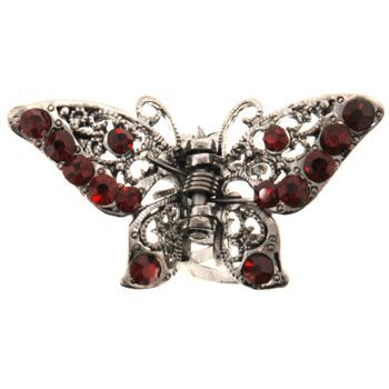 HB HairJewels - Michelle Collection - Petite Butterfly Claw - Ruby (1)
