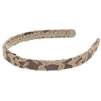 Susan Daniels - Thin Lace Headband - Chocolate/Cream