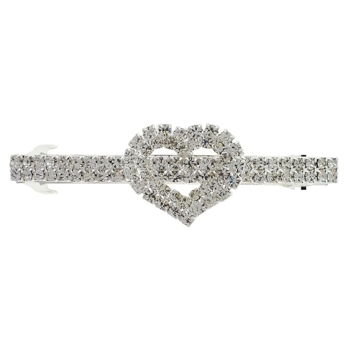 Karen Marie - Bridal Collection - Romantic Crystal Heart Barrette (1)