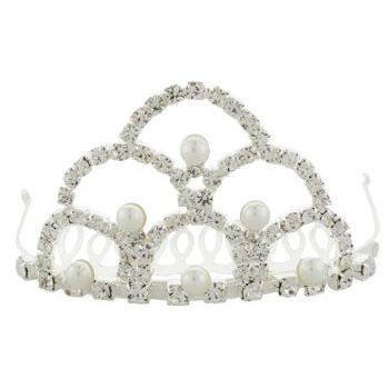 Karen Marie - Bridal Collection - Crystal & Pearl Cathedral Tiara (1)