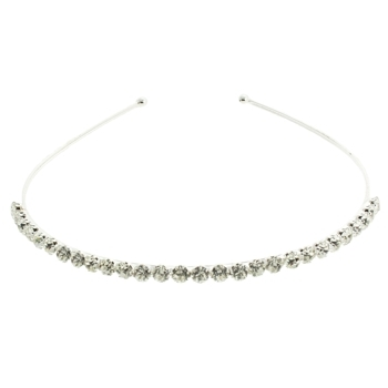 Karen Marie - Bridal Collection - White Diamond Crystal Encrusted Headband (1)