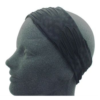 HB HairJewels - Lucy Collection - Ripped & Ragged Headband - Black (1)