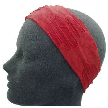 HB HairJewels - Lucy Collection - Ripped & Ragged Headband - Red (1)