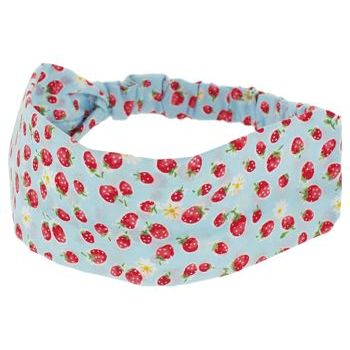 HB HairJewels - Lucy Collection - Strawberry Patch Bandeau - Blue (1)