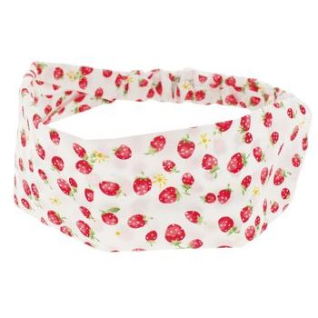 HB HairJewels - Lucy Collection - Strawberry Patch Bandeau - White (1)