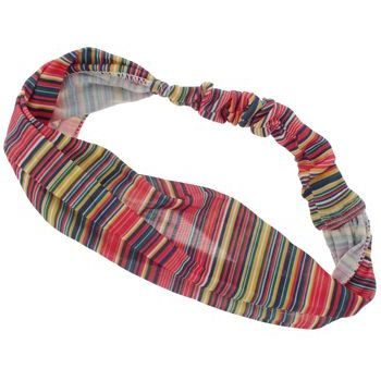 HB HairJewels - Lucy Collection - Sheer Tiny Stripe Soft Headband - Red (1)