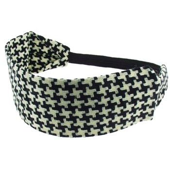 HB HairJewels - Lucy Collection - Houndstooth Bandeau - Black & White