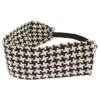 HB HairJewels - Lucy Collection - Houndstooth Bandeau - Chocolate & White
