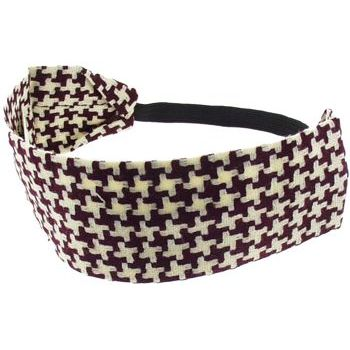 HB HairJewels - Lucy Collection - Houndstooth Bandeau - White & Red