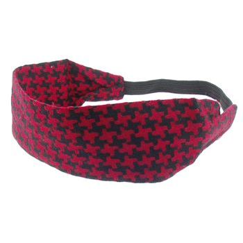 HB HairJewels - Lucy Collection - Houndstooth Bandeau - Red & Black