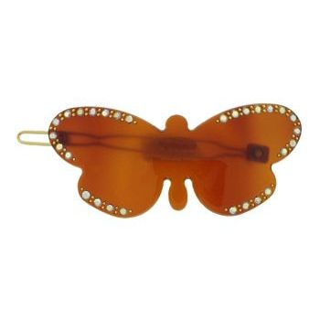 Karen Marie - Crystal Encrusted French Butterfly Barrette - Tort (1)