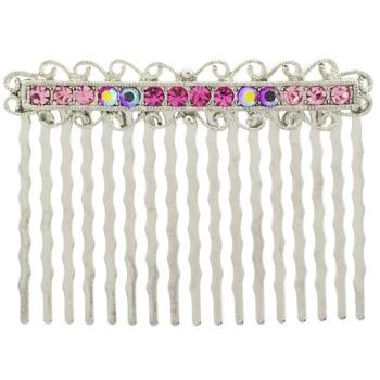 Karen Marie - Antique Crystal Comb - Rose (1)