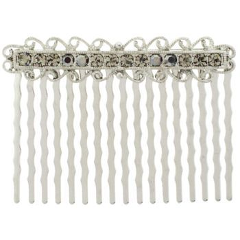 Karen Marie - Antique Crystal Comb - Smoke (1)