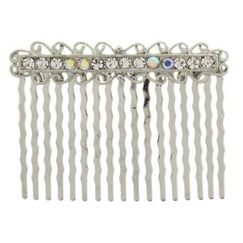 Karen Marie - Antique Crystal Comb - White (1)
