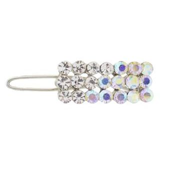 Karen Marie - Crystal Bar Mini Barrette - White (1)