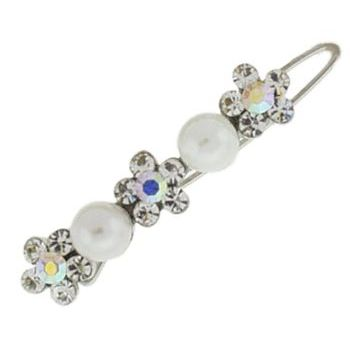 Karen Marie - Bridal Collection - Mini Barrette - Pearls & Crystals