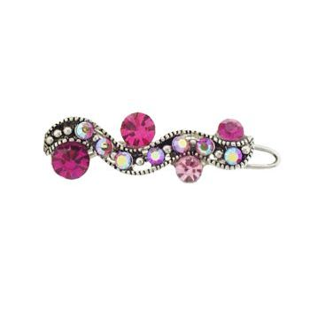 Karen Marie - Mini Crystal Filigree Barrette - Pink (1)