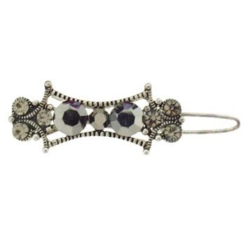 Karen Marie - Mini Crystal Victoria Barrette - Black (1)