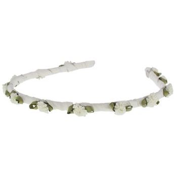Renee Rivera - Silk Headband w/Flowers - White (1)