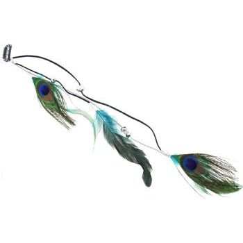 SOHO BEAT - Navajo Couture - Shoshone Clip-In Feather Extension - Teal