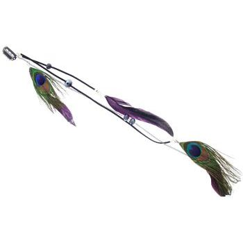 SOHO BEAT - Navajo Couture - Shoshone Clip-In Feather Extension - Plum