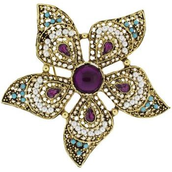 Rachel Abroms - Indian Flower Vintage Brooch (1)