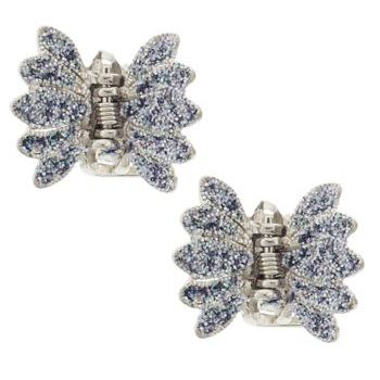 Karen Marie - Small Forest Fly Glitter Claw - Blue (Set of 2)