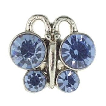 HB HairJewels - Crystal Butterfly Toe Ring - Blue (1)