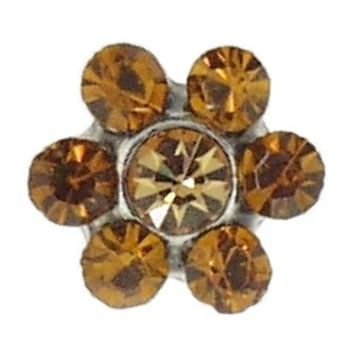 HB HairJewels - Crystal Flower Toe Ring - Golden Amber (1)