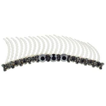Medusa's Heirlooms - Large Straight Line Gem Comb - Smoke (1)