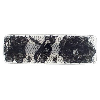 Karina - Fishnet Lace Barrette - Black (1)