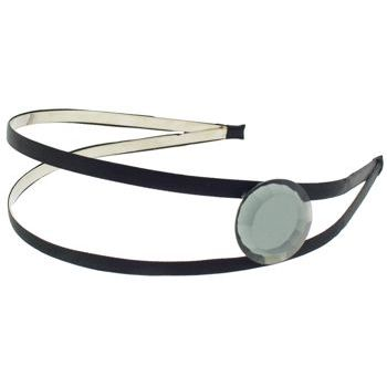 Karina - Split Headband w/Gem - Black