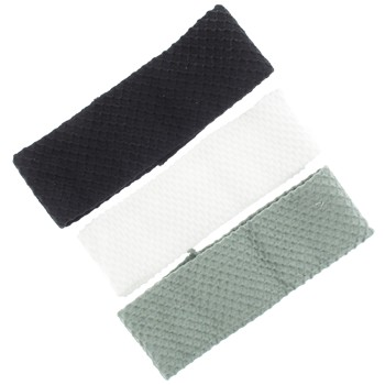Karina - Textured Bandeaus - 3pc (Grey, Black, White)