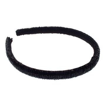 Karina - Black Beaded Headband (1) - All Sales Final