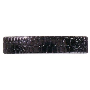 Karina - Faux Crocodile Barrette (Large) - Black (1) - All Sales Final