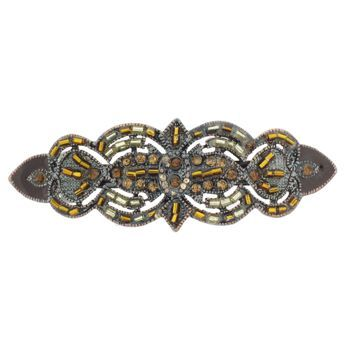 Karina - Antique Beaded Barrette (1)
