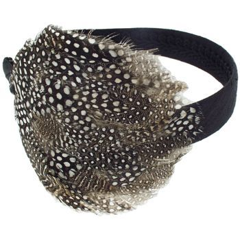 Karin's Garden - Flapper Feather Headband - Black/Brown