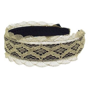 Karin's Garden - Lace Headband - Gold (1)