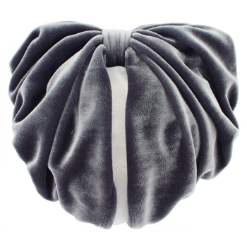 Karen Marie - Snood Collection - Large Velvet Snood - Gunmetal Gray