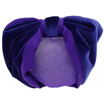 Karen Marie - Snood Collection - Velvet & Satin - Royal Purple