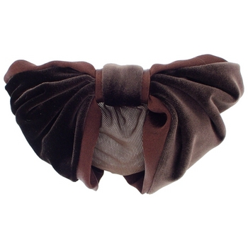 Karen Marie - Snood Collection - Velvet & Satin - Mocha Chocolate Swirl