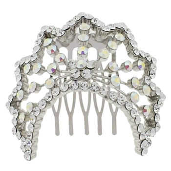 Karen Marie - Bridal Collection - Crystal Pony Tiara Comb (1)