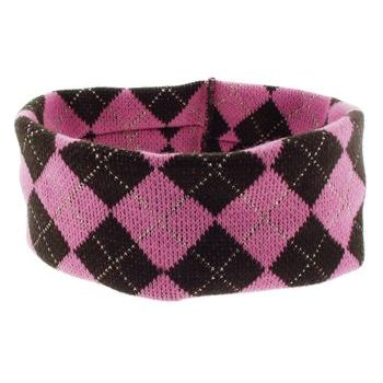 Karen Marie - Argyle Knit Bandeau - Strawberry Shake (1)