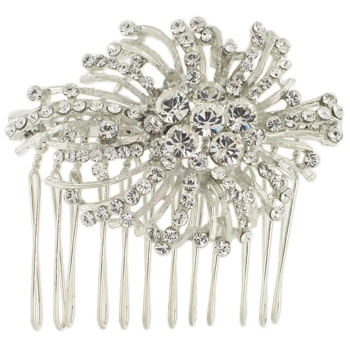 Karen Marie - Bridal Collection - Starburst of Crystals Side Comb (1)