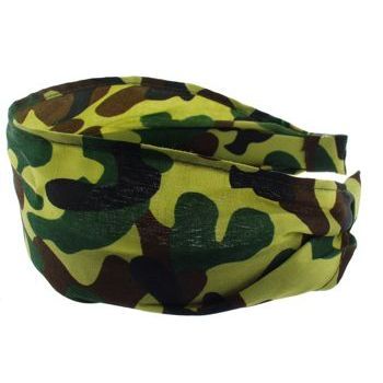 Karen Marie - Camoflauge Scarf Headband - Light Green (1)