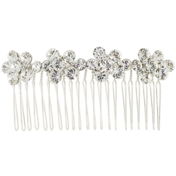 Karen Marie - Bridal Collection - Crystal Flowers Side Comb (1)