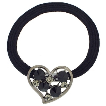 Karen Marie - Small Crystal Heart Pony - Black (1)