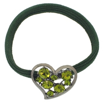 Karen Marie - Small Crystal Heart Pony - Peridot (1)