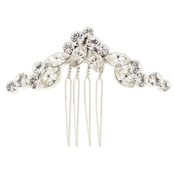 Karen Marie - Bridal Collection - String of Crystals Side Comb (1)