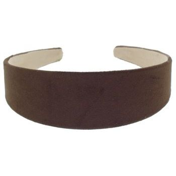 Karen Marie - Suede Headband - Chocolate Brown (1)